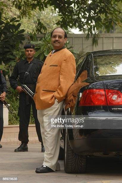 Amar Singh Samajwadi Party General Secretary at his Residence in New Delhi India