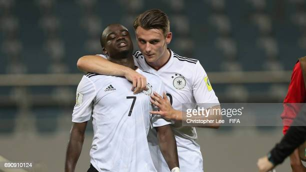 Amara Conde of Germany and Toerles Knoell of Germany look dejected after they lose during the FIFA U20 World Cup Korea Republic 2017 Round of 16...