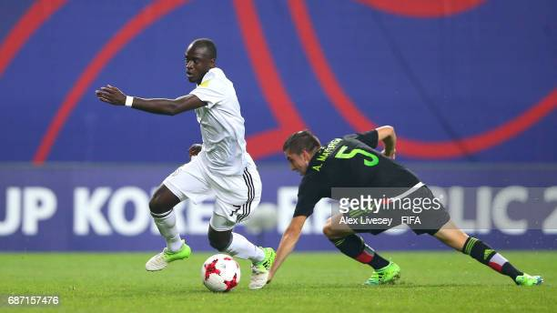 Amara Conde of Germany beats Manuel Mayorga of Mexico during the FIFA U20 World Cup Korea Republic 2017 group B match between Mexico and Germany at...