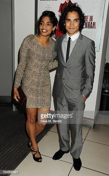 Amara Karan and Reece Ritchie arrive at the World premiere of 'Made In Dagenham' at the Odeon Leicester Square on September 20 2010 in London England