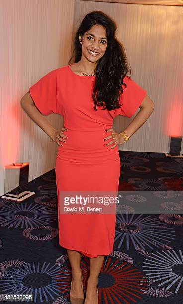 Amara Karan arrives at the Jameson Empire Awards 2014 at The Grosvenor House Hotel on March 30 2014 in London England