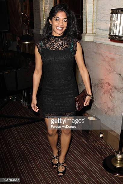 Amara Karan attends the afterparty for the European premiere of Brighton Rock held at Criterion on February 1 2011 in London England