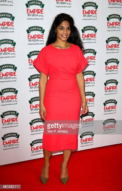 Amara Karan attends the Jameson Empire Awards 2014 at the Grosvenor House Hotel on March 30 2014 in London England Regarded as a relaxed end to the...