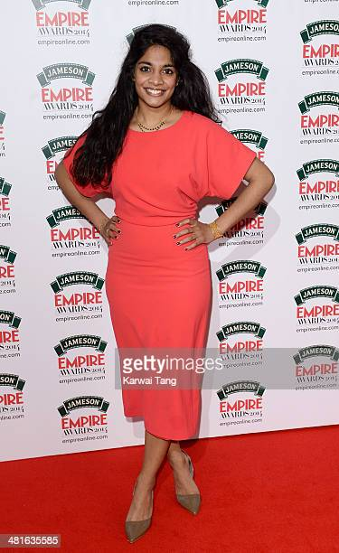 Amara Karan attends the Jameson Empire Film Awards at Grosvenor House on March 30 2014 in London England