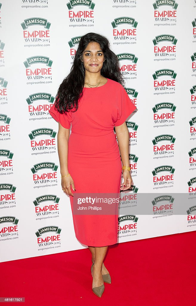 <a gi-track='captionPersonalityLinkClicked' href=/galleries/search?phrase=Amara+Karan&family=editorial&specificpeople=4498471 ng-click='$event.stopPropagation()'>Amara Karan</a> attends the Jameson Empire Film Awards at The Grosvenor House Hotel on March 30, 2014 in London, England.