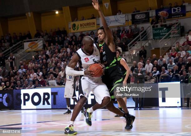 Amara Sy / Mickael Gelabale Orleans / Villeurbanne 20e journee de Pro A Photo Alain Bourdaux / Icon Sport