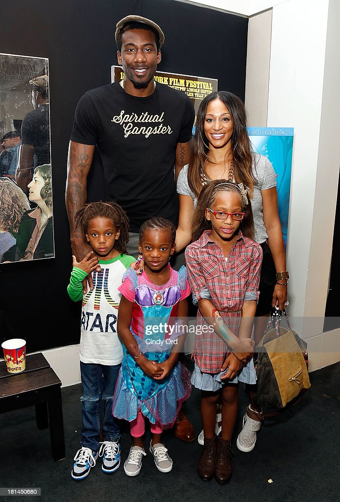 Amar'e Stoudemire (L) and Alexis Stoudemire attend Disney's The Little Mermaid special screening at Walter Reade Theater on September 21, 2013 in New York City.