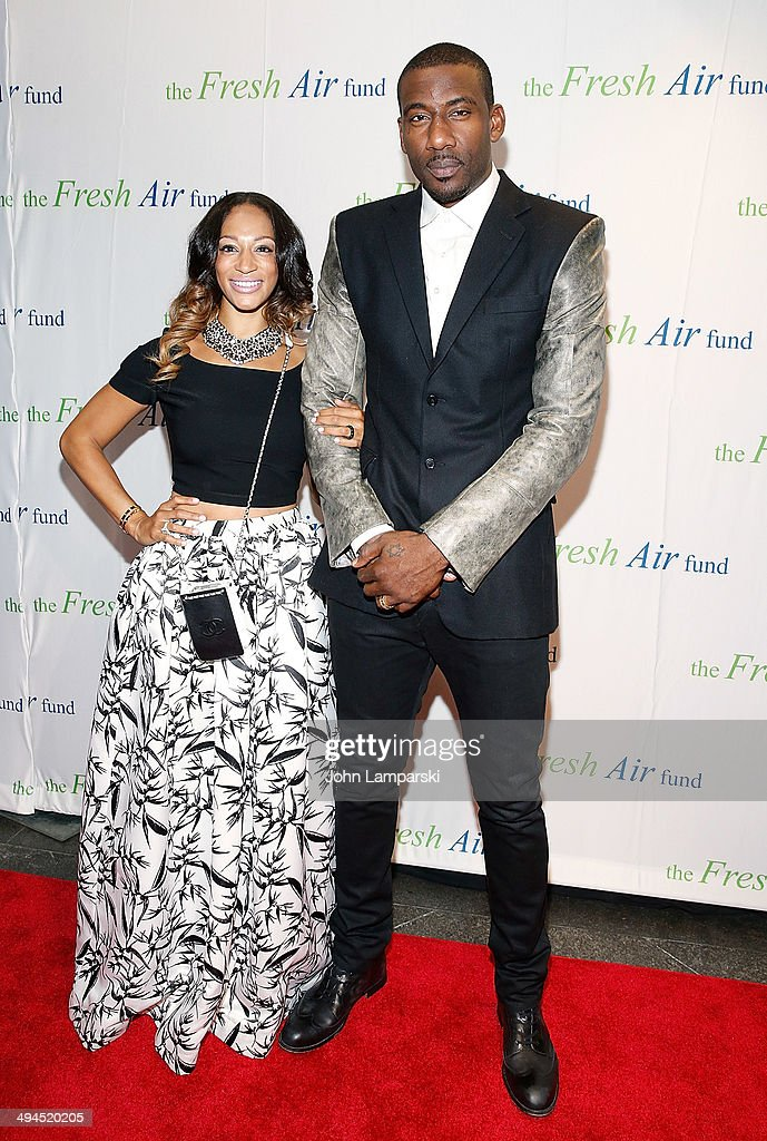 Amar'e Stoudemire and Alexis Welch attend the 2014 Fresh Air Fund Honoring Our American Hero at Pier Sixty at Chelsea Piers on May 29, 2014 in New York City.