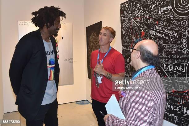 Amar'e Stoudemire and Brendan Murphy attend Art Miami VIP Preview at Art Miami Pavilion on December 6 2017 in Miami Beach Florida