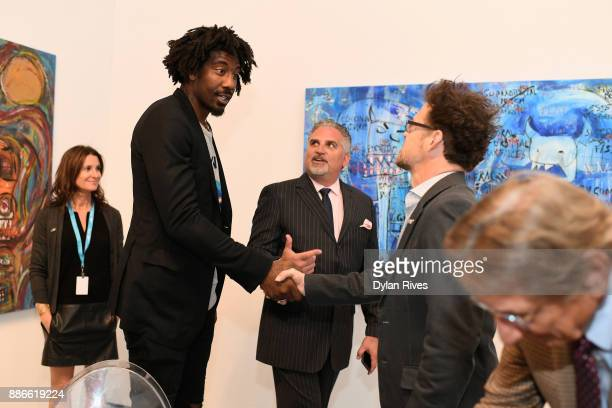 Amar'e Stoudemire and Jason Newsted attend the Art Miami CONTEXT 2017 at Art Miami Pavilion on December 5 2017 in Miami Florida