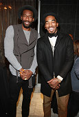 Amar'e Stoudemire and JR Smith attend the 2nd Annual Alan Houston Legacy Foundation charity poker tournament at Espace on December 3 2013 in New York...
