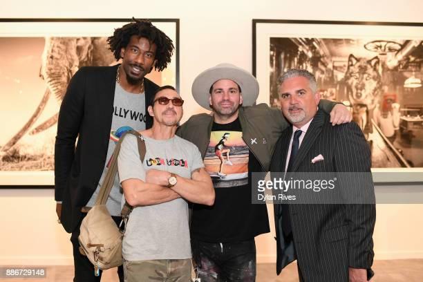 Amar'e Stoudemire and Nick Korniloff attend the Art Miami CONTEXT 2017 at Art Miami Pavilion on December 5 2017 in Miami Florida