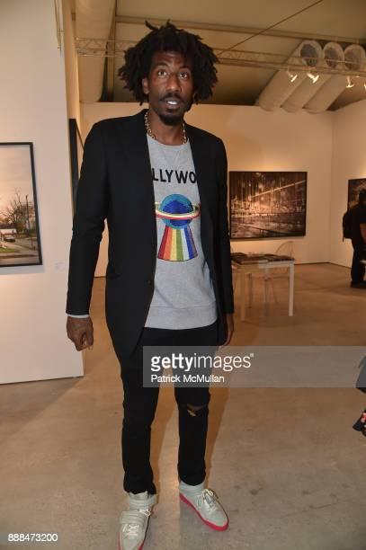 Amar'e Stoudemire attends Art Miami VIP Preview at Art Miami Pavilion on December 6 2017 in Miami Beach Florida