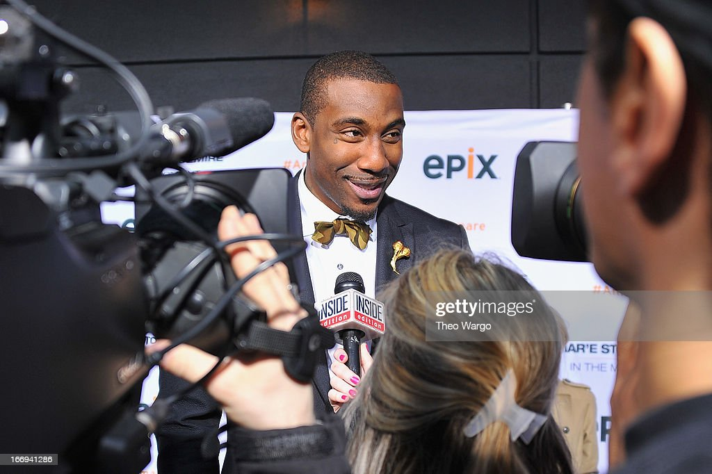 Amar'e Stoudemire attends EPIX premiere of Amar'e Stoudemire IN THE MOMENT on April 18, 2013 in New York City.