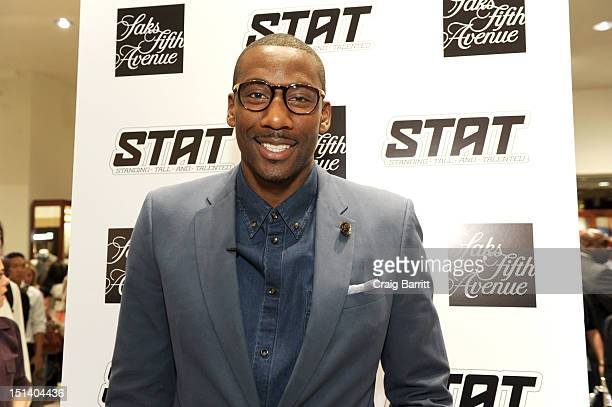 Amare Stoudemire attends Fashion's Night Out at Saks Fifth Avenue on September 6 2012 in New York City