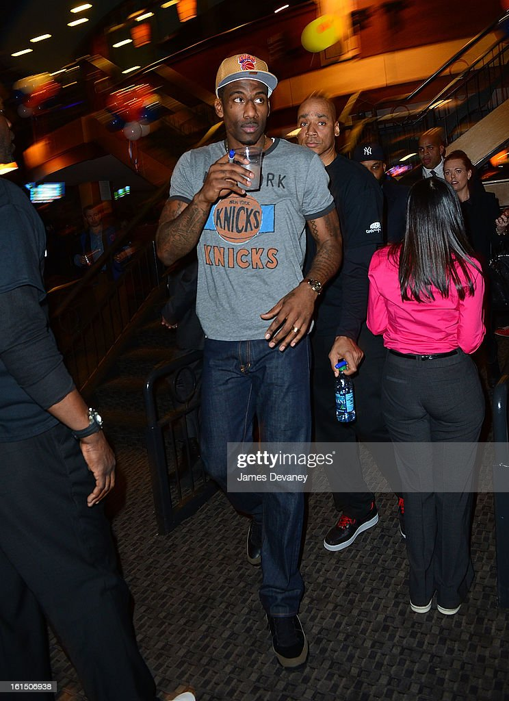 Amare Stoudemire attends the 14th Annual Knicks Bowl at Chelsea Piers on February 11, 2013 in New York City.