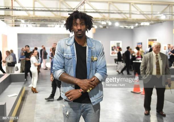 Amar'e Stoudemire attends the Art Basel Miami Beach 2017 Media Reception VIP Viewing at the Miami Convention Center on December 6 2017 in Miami...