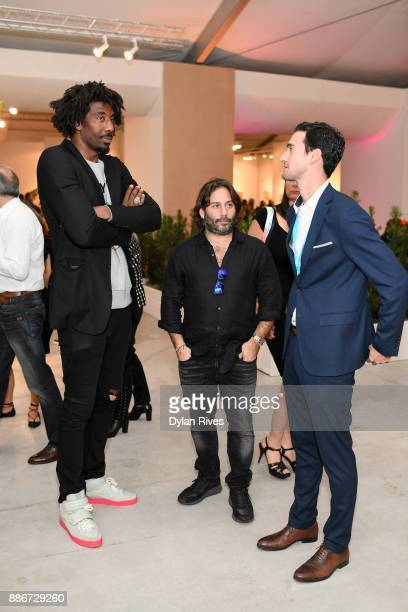 Amar'e Stoudemire attends the Art Miami CONTEXT 2017 at Art Miami Pavilion on December 5 2017 in Miami Florida