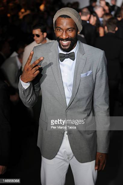 Amare Stoudemire attends the Calvin Klein Collection Fashion Show as part of Milan Fashion Week Menswear Spring/Summer 2013 on June 24 2012 in Milan...