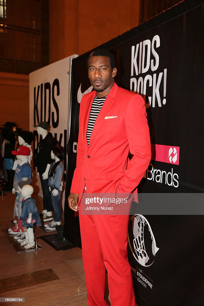<a gi-track='captionPersonalityLinkClicked' href=/galleries/search?phrase=Amar%27e+Stoudemire&family=editorial&specificpeople=201492 ng-click='$event.stopPropagation()'>Amar'e Stoudemire</a> hosts the Kids Rock! Celebrity Fashion Show at Grand Central Terminal on September 11, 2013 in New York City.