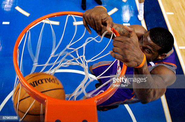 Amare Stoudemire of the Phoenix Suns dunks against the Dallas Mavericks in Game six of the Western Conference Semifinals during the 2005 NBA Playoffs...