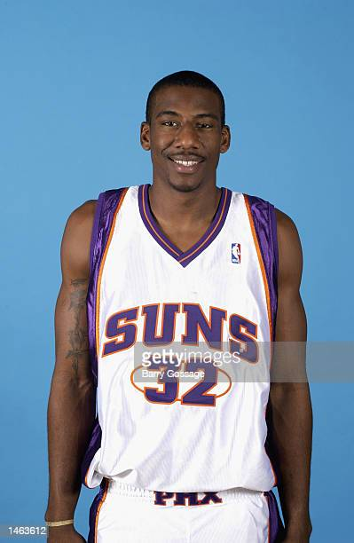 Amare Stoudemire of the Phoenix Suns poses for a portrait during Media Day on September 30 2002 at America West Arena in Phoenix Arizona NOTE TO USER...