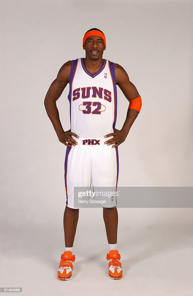 Amare Stoudemire #32 of the Phoenix Suns poses for a portrait during NBA Media Day on October 4, 2004 in Phoenix, Arizona.