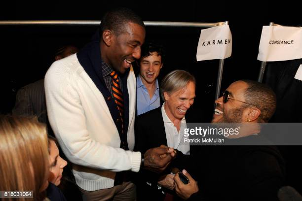 Amar'e Stoudemire Tommy Hilfiger and Lenny Kravitz attend TOMMY HILFIGER Spring 2011 Fashion Show at Lincoln Center The Theatre on September 12 2010