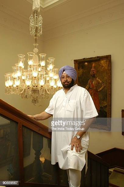 Amarinder Singh Chief Minister of Punjab and a Scion of the Patiala Royal Family photographed at his New Moti Bagh residential Palace in Patiala...