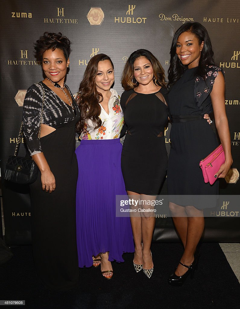 Amaris JonesAdrienne BoshShannon Allen and Gabrielle Union attends the Haute Living Miami's 'Woman Of Substance Woman Of The Year' Awards 2013 on...