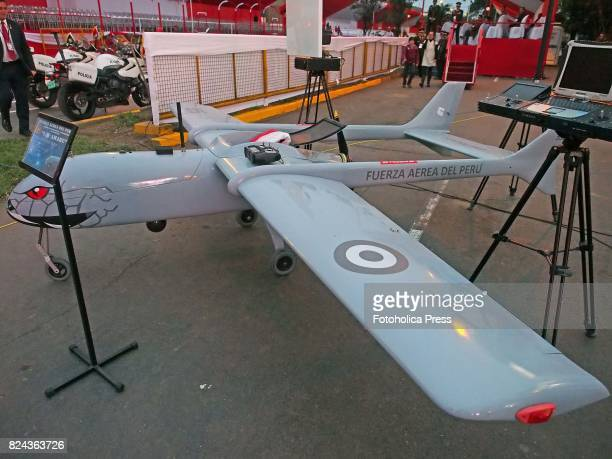 Amaru Drone of the Peruvian Air Force shown at the Military parade commemorating 196th anniversary of Peruvian independence