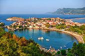 Amasra resort town situated on a peninsula lagoon, Black Sea coast, Turkey