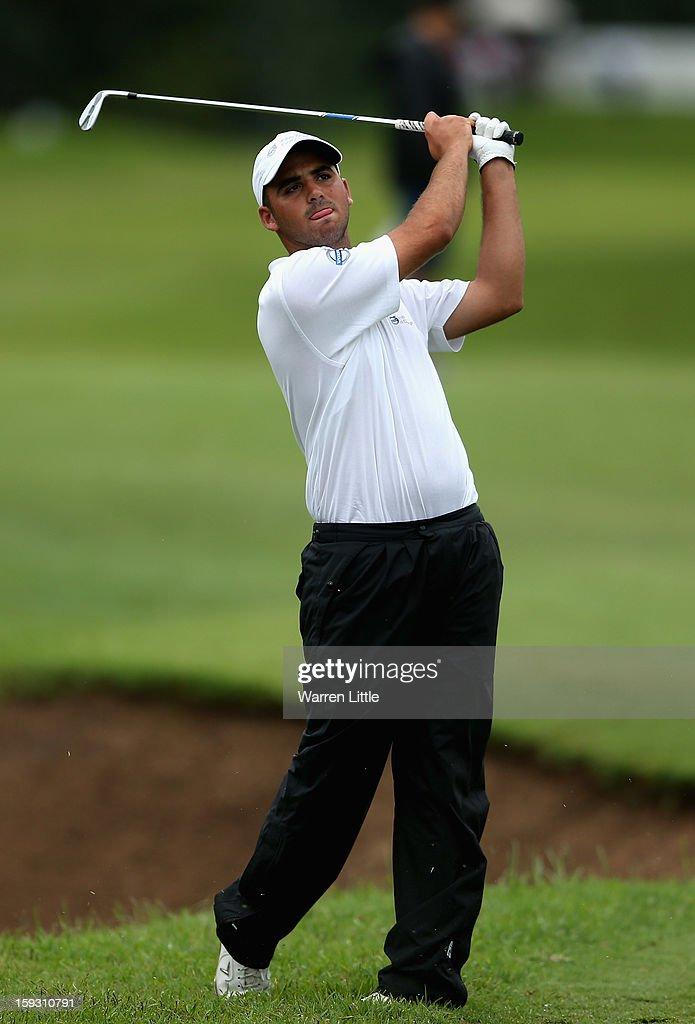 Amateur, Asaf Cohen in action during the second round of the Volvo Golf Champions at Durban Country Club on January 11, 2013 in Durban, South Africa.