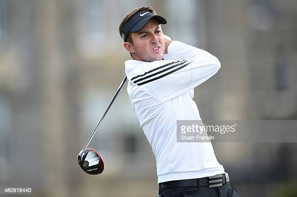 Amateur Ashley Chesters of England tees off on the 2nd hole during the first round of the 144th Open Championship at The Old Course on July 16 2015...