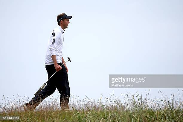 Amateur Ashley Chesters of England walks along the 14th hole during the final round of the 144th Open Championship at The Old Course on July 20 2015...