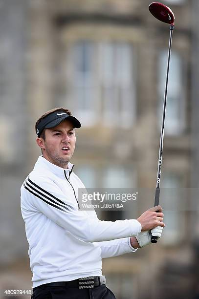 Amateur Ashley Chesters of England watches his tee shot on the second hole during the first round of the 144th Open Championship at The Old Course on...