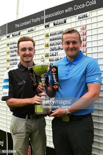Amateur Callum Gaughan and Scott McGovern of Normanton Golf Club pose with the trophy following their lowest round of 61 during the Lombard Trophy...