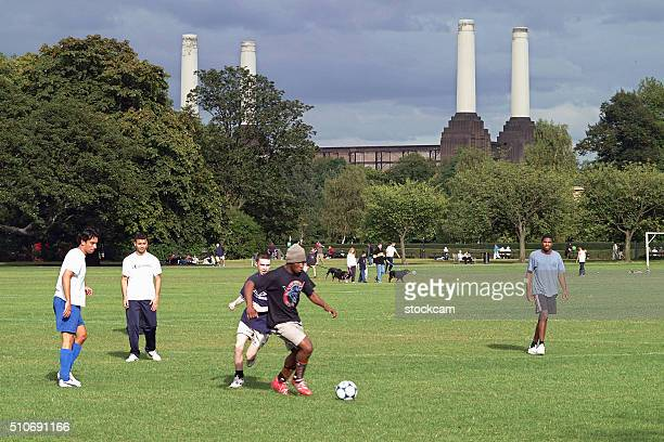 Amateur football, Battersea park, London