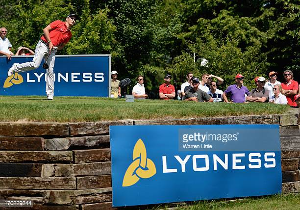 Amateur Matthias Schwab of Austria during the final round of the Lyoness Open powered by Greenfinity at Diamond Country Club on June 9 2013 in...