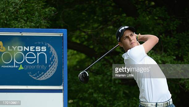 Amateur Matthias Schwab of Austria in action during the second round of the Lyoness Open powered by Greenfinity at Diamond Country Club on June 7...
