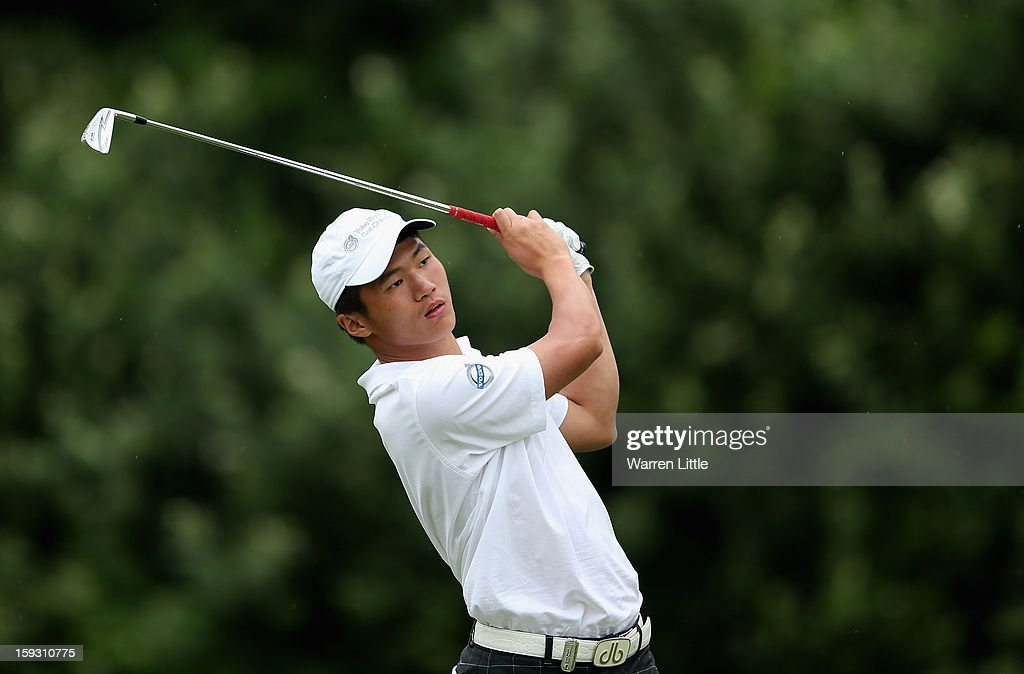 Amateur Quanzhou Zhu of China in action during the second round of the Volvo Golf Champions at Durban Country Club on January 11, 2013 in Durban, South Africa.
