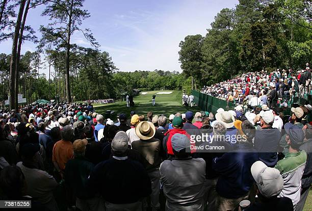 Amateur Richie Ramsay of Scotland hits his tee shot on the fourth hole during the first round of The Masters at the Augusta National Golf Club on...