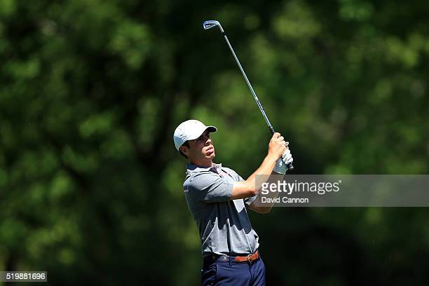 Amateur Romain Langasque of France during the second round of the 2016 Masters Tournament at Augusta National Golf Club on April 8 2016 in Augusta...