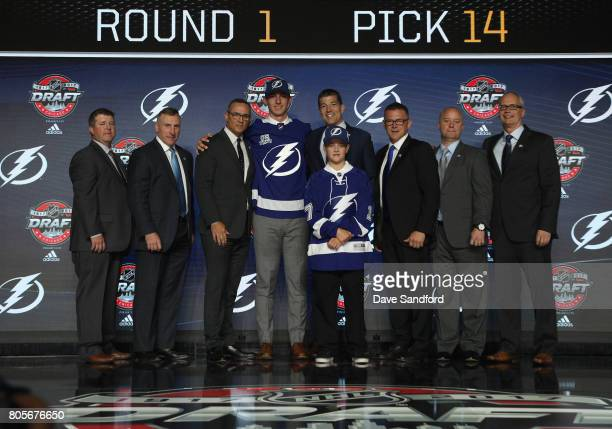Amateur scout Brad Whelen assistant general manager and director of player personnel Pat Verbeek general manager Steve Yzerman 14th overall pick Cal...