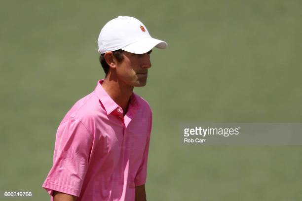 Amateur Stewart Hagestad of the United States walks to the second green during the third round of the 2017 Masters Tournament at Augusta National...