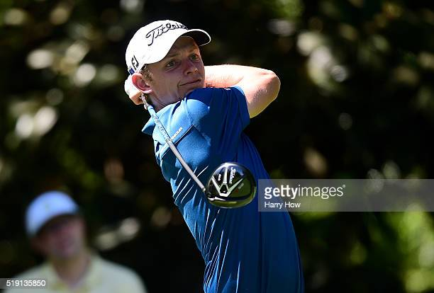 Amatuer Cameron Smith of Australia plays a shot during a practice round prior to the start of the 2016 Masters Tournament at Augusta National Golf...