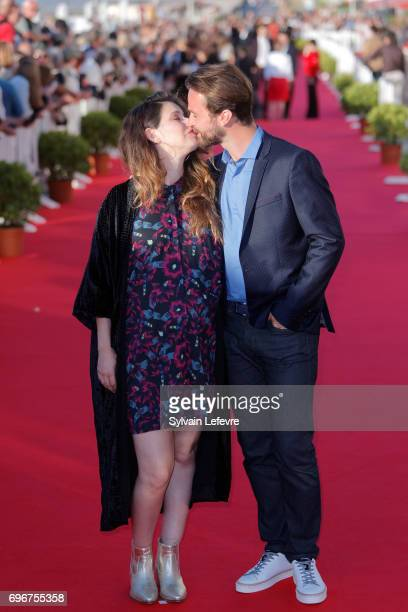 Amaury de Crayencour and his wife attend red carpet of 3rd day of the 31st Cabourg Film Festival on June 16 2017 in Cabourg France