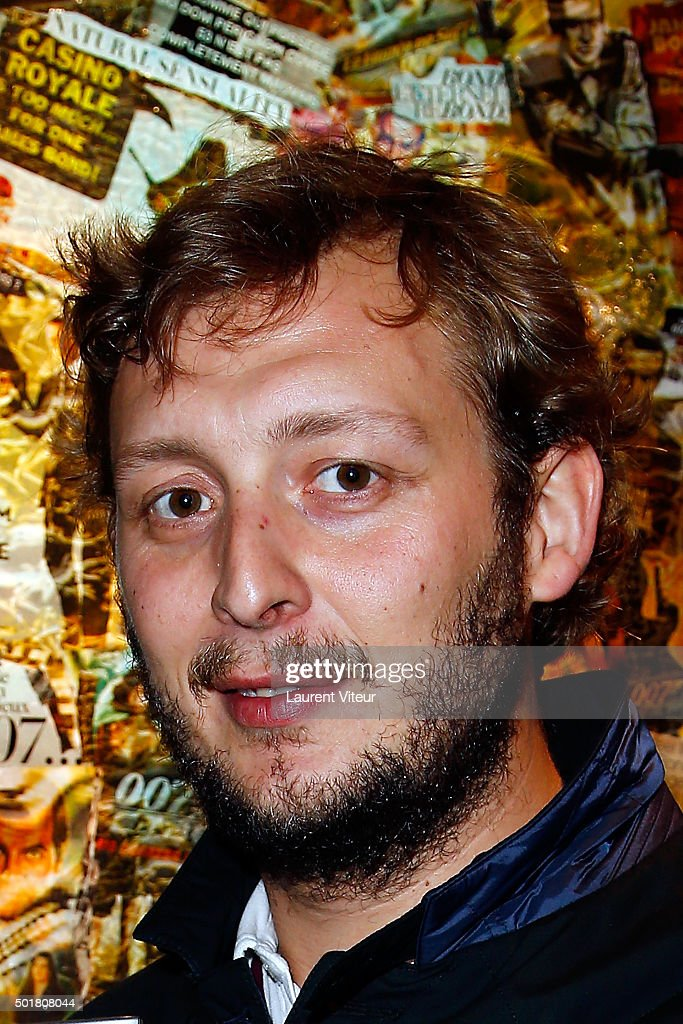 Amaury Levaux attends 'Accords Croises' Anne Mondy's exhibition at Rue Bonaparte on December 17, 2015 in Paris, France.