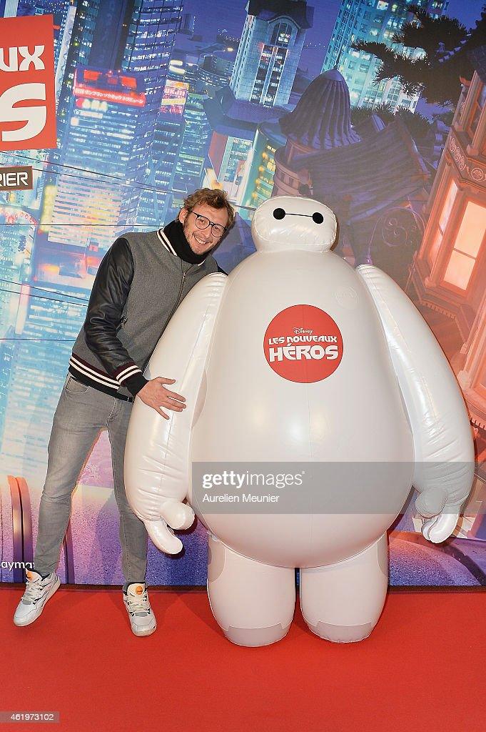 Amaury Leveaux attends the Big Hero 6 Paris premiere at UGC Cine Cite des Halles on January 22, 2015 in Paris, France.