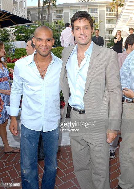 Amaury Nolasco and Josh Hopkins during 20th Century Fox Television Producers and Stars Party at Shutters on the Beach in Venice California United...